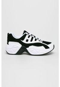 Białe buty sportowe Kappa na średnim obcasie, na obcasie