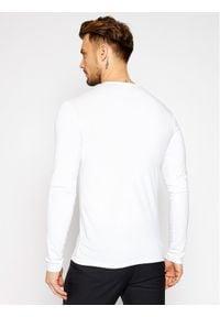 VERSACE - Versace Longsleeve Girocollo AUU01007 Biały Regular Fit. Kolor: biały. Długość rękawa: długi rękaw