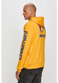 Żółta bluza nierozpinana Element na co dzień, z nadrukiem, z kapturem, casualowa