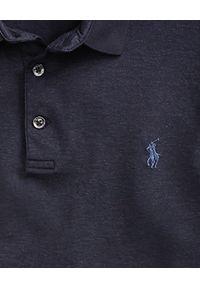 Niebieskie polo z krótkim rękawem Ralph Lauren klasyczne, z haftami