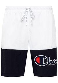 Champion Szorty kąpielowe Colour Block Satin Script Logo Board 214431 Biały Board Fit. Kolor: biały