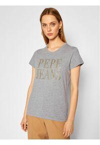 Pepe Jeans T-Shirt Lucila PL504655 Szary Regular Fit. Kolor: szary