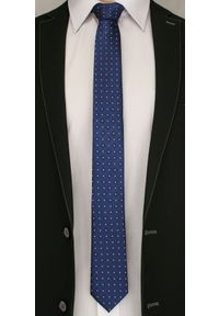 Ciemny Granatowy Elegancki Krawat -Angelo di Monti- 6 cm, Męski, Wzór Geometryczny. Kolor: niebieski. Wzór: geometria. Styl: elegancki