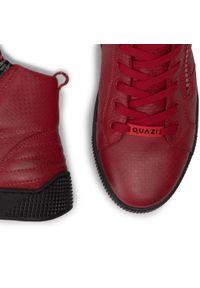 Sneakersy QUAZI - QZ-01-03-000269 108. Kolor: czerwony. Materiał: skóra. Szerokość cholewki: normalna