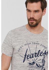 s.Oliver - s. Oliver - T-shirt. Okazja: na co dzień. Kolor: szary. Materiał: bawełna, poliester. Wzór: nadruk. Styl: casual