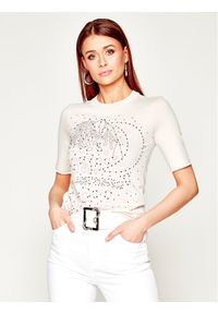 Beżowy t-shirt Just Cavalli