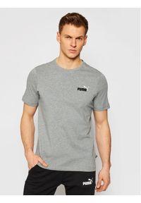 Puma T-Shirt Embroldery Logo Tee 587184 Szary Regular Fit. Kolor: szary