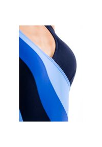 Strój Rontil Martina 404. Kolor: niebieski. Materiał: elastan, materiał, poliamid