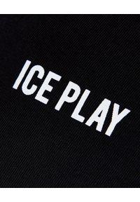 Czarny t-shirt Ice Play z nadrukiem, klasyczny, na lato
