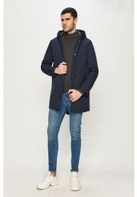 Niebieska kurtka Premium by Jack&Jones casualowa, na co dzień, długa