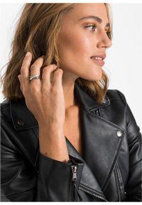 Pierścionek z kryształami Swarovskiego® bonprix srebrny kolor rodowany - czarny #3