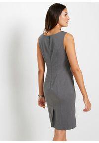 Szara sukienka bonprix melanż, ołówkowa