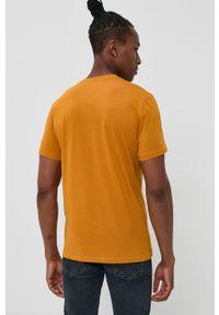 Tom Tailor - T-shirt bawełniany. Okazja: na co dzień. Kolor: pomarańczowy. Materiał: bawełna. Wzór: nadruk. Styl: casual
