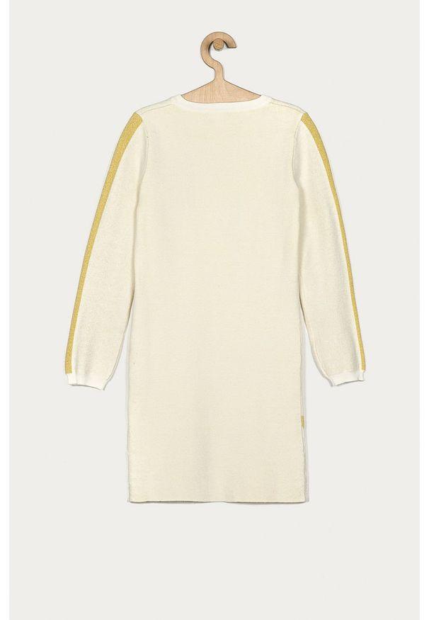 Kremowa sukienka Guess Jeans z nadrukiem, mini