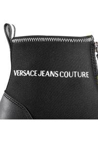 Czarne sneakersy Versace Jeans Couture z cholewką