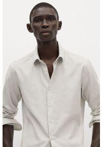 Szara koszula Mango Man z klasycznym kołnierzykiem, długa