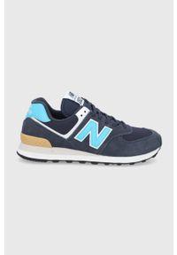 New Balance - Buty ML574MS2. Nosek buta: okrągły. Zapięcie: sznurówki. Kolor: niebieski. Materiał: guma. Model: New Balance 574