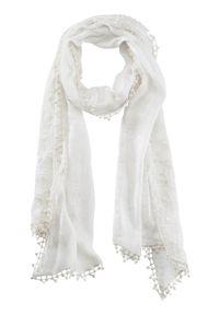 Biały szalik Cellbes w koronkowe wzory