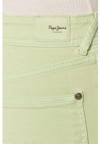 Miętowe szorty Pepe Jeans casualowe, gładkie, na co dzień