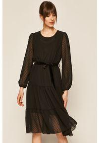 Czarna sukienka medicine na co dzień, boho