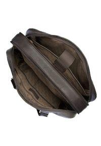 Brązowa torba na laptopa Wittchen biznesowa, z aplikacjami