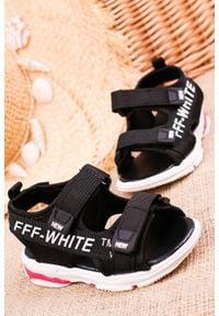 Casu - czarne sandały na rzepy casu 123b. Zapięcie: rzepy. Kolor: czarny