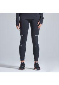 KIPRUN - Legginsy do biegania damskie Kiprun Warm ocieplane. Kolor: czarny. Materiał: poliester, materiał, elastan. Sezon: zima. Sport: fitness, bieganie