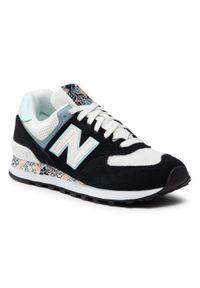 Czarne buty sportowe z cholewką, na co dzień, New Balance 574