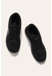 Czarne sneakersy Kappa z okrągłym noskiem, na sznurówki, z cholewką #5