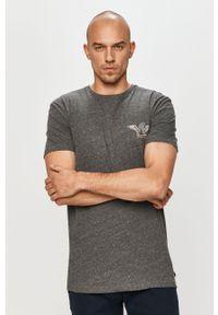 Szary t-shirt Quiksilver na co dzień, casualowy