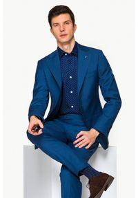 Niebieski garnitur Lancerto w kolorowe wzory