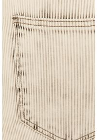 Białe jeansy TALLY WEIJL w kolorowe wzory, z podwyższonym stanem
