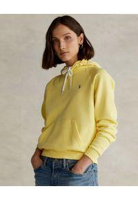 Ralph Lauren - RALPH LAUREN - Żółta bluza z kapturem Relaxed fit. Typ kołnierza: kaptur. Kolor: żółty. Materiał: bawełna