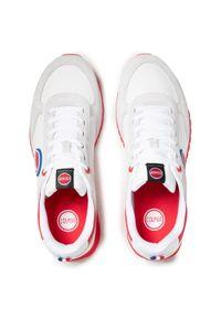Colmar - Sneakersy COLMAR - Travis Boost 133 White/Red. Kolor: biały. Materiał: materiał, zamsz. Szerokość cholewki: normalna. Styl: klasyczny