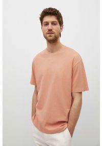 Mango Man - T-shirt CIRCO. Okazja: na co dzień. Kolor: różowy. Materiał: bawełna, dzianina. Styl: casual