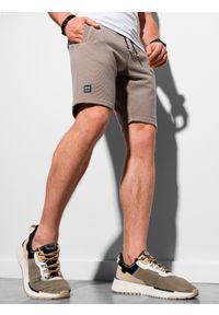 Brązowe szorty Ombre Clothing krótkie