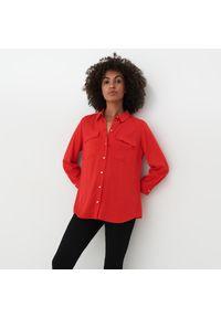 Mohito - Wiskozowa koszula Eco Aware - Czerwony. Kolor: czerwony. Materiał: wiskoza