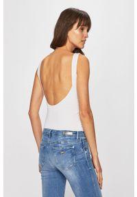 Biały top Guess Jeans z nadrukiem, na co dzień
