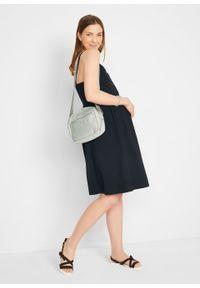 Sukienka ciążowa i do karmienia, z bawełny organicznej bonprix czarny. Kolekcja: moda ciążowa. Kolor: czarny. Materiał: bawełna