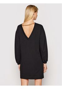 Imperial Sukienka dzianinowa ABRFBCR Czarny Regular Fit. Kolor: czarny. Materiał: dzianina