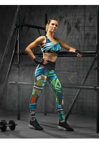 FJ! - Stanik Sportowy JUNGLE. Materiał: dzianina, guma, żakard, elastan, poliester. Sport: fitness, bieganie