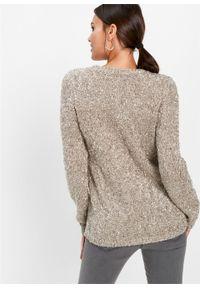 Różowy sweter bonprix plus size, melanż