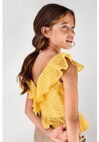 Mayoral - Bluzka dziecięca. Okazja: na co dzień. Kolor: pomarańczowy. Materiał: poliester, tkanina, materiał, bawełna. Długość rękawa: bez rękawów. Wzór: gładki. Styl: elegancki, casual #6