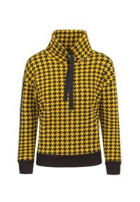 Deha - Bluza DEHA EASY. Kolor: żółty. Materiał: prążkowany. Wzór: nadruk