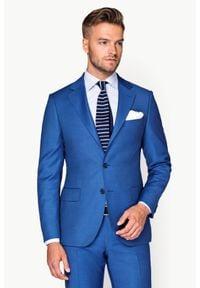 Lancerto - Garnitur Niebieski Luten. Kolor: niebieski. Materiał: tkanina, wełna