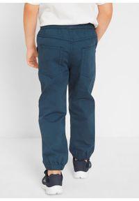Spodnie chłopięce ze ściągaczem (3 pary) bonprix ciemnoniebieski + piaskowy +dymny szary. Kolor: niebieski