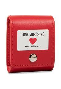 Czerwone etui Love Moschino