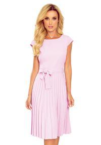 Fioletowa sukienka Numoco elegancka