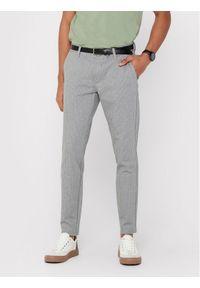 Only & Sons - ONLY & SONS Spodnie materiałowe Mark 22013727 Szary Slim Fit. Kolor: szary. Materiał: materiał