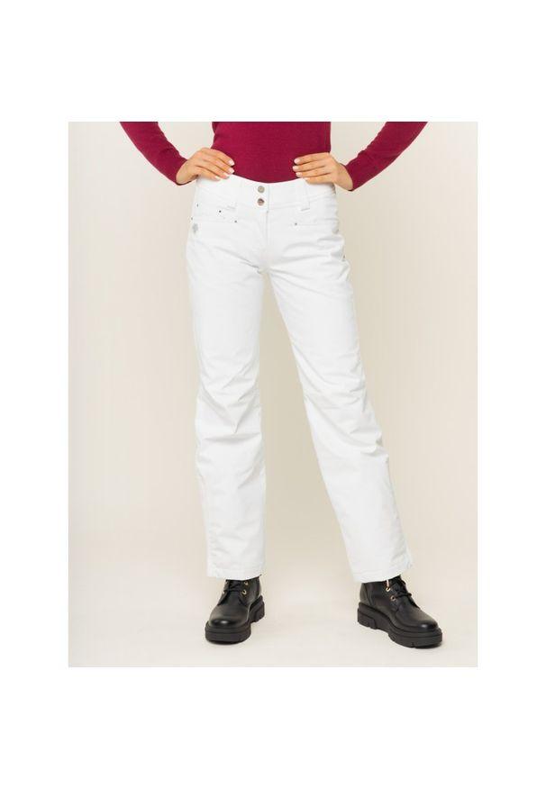 Białe spodnie narciarskie Descente